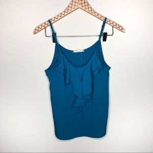 Forever 21 Blue Ruffle Tank Top